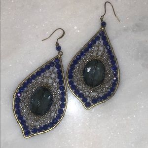 Jewelry - Blue Beaded Earrings